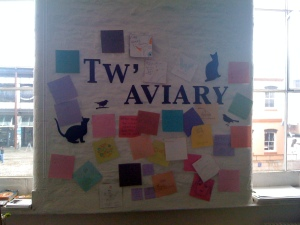 Tw-aviary at Watershed's Pervasive Media Centre