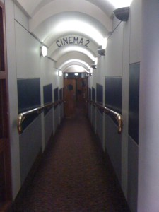 the sweeping entrance to Cinema 2, GFT, Glasgow